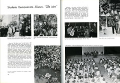 Old Miss demonstrations, 1963 (Regional History Center & NIU Archives) Tags: boycott demonstration protest niu northernillinoisuniversity student yearbook activism