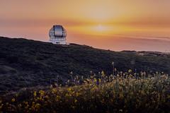 Sunset at Gran TeCan (swllero) Tags: canarias grantecan telescope astronomy lapalma spain sky stars science flowers color captureonepro10