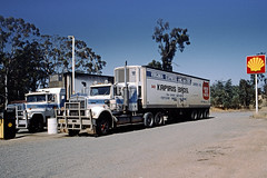 Truck Stop in the Outback in 1990 (Stefan Fisher) Tags: australia scanned outdoor outback downunder minoltaxd7 kodakektachrome 35mm southaustralia