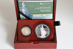 Centenary of the Proclamation of the Irish Republic (Canadian Pacific) Tags: gold silver coin numismatics ireland irish eire ire centralbankofireland na hireann 100th anniversary ofthe proclamation irishrepublic aimg5983 centenary 1916 2016 presentation case box clamshell display ceannais 15050 euro