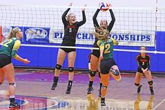 IMG_6697 (SJH Foto) Tags: girls volleyball high school allentown central catholic somerset team teen teenager net battle spike block action shot jump midair