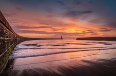 Seaham Beach, Co Durham (DM Allan) Tags: seaham sunrise dawn golden byron durhamheritagecoast sea coast durham northsea