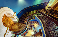 Winding stairs @ QVB (Arjun Saha Photography) Tags: cityscapes nsw building windingstairs sydney qvb oldwiththenew queenvictoria