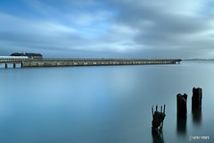 Pier 14 San Francisco (universini) Tags: sanfrancisco california city longexposure sea sky seascape slr water colors canon landscape sfo slowshutter canon5d sini embarcedero mandya universini siddegowda nidagatta