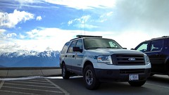 U.S. National Park Service Ford Expedition SUV At Hurricane Ridge in Olympic National Park (andrewkim101) Tags: park mountains ford expedition port us washington state angeles hurricane ridge national wa service olympic suv flickrandroidapp:filter=none