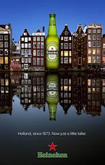 Heineken Long Neck Bottle Ad (Noel Bass) Tags: holland beer amsterdam buildings heineken bottle angeles canals advertisement commercial conceptual commercialphotography photographernoel bassnoelbassphotographyphotographerlos photographerproduct photographerproductsbottlebeer