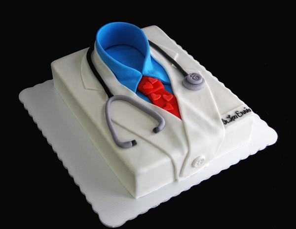 White Coat Doctor Cake