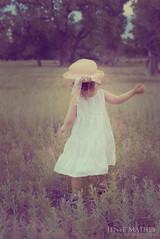 Follow (JeneeMathes) Tags: trees summer girl field hat evening toddler moody play run follow pasture lovely nikkor bliss whitedress nikond800 jeneemathes