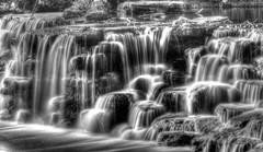 Waterfall in Black & White (Phyllis74) Tags: waterfall kentucky louisville papajohnswaterfall