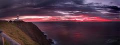 A Cliche at Byron Bay (edwinemmerick) Tags: ocean longexposure sea sky panorama cloud lighthouse seascape reflection weather photoshop sunrise canon eos shoreline le shore 7d slowshutter byronbay edwin sunup headland emmerick edwinemmerick