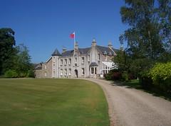 Pitmedden House, Pitmedden Gardens(5), Aberdeenshire, July 2013 (allanmaciver) Tags: trees house green scotland estate aberdeenshire flag style national trust granite breeze manor allanmaciver pitmeddengardensjuly2013