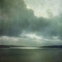 Light within the Storm (sally banfill) Tags: seascape painterly texture clouds stormy texturesquared sallybanfill