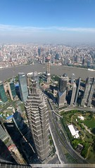 : - Panorama of Oriental Pearl Tower & Jinmao Tower from SWFC (Duyi_Han) Tags: china shanghai best    lujiazui 2013 panoramio396241993790561