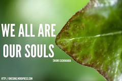 Words Of Wisdom - Our Souls (swamicashinanda) Tags: souls comedy humour selfhelp wisewords wordsofwisdom spiritualguidance oursouls spiritualsayings swamicashinanda onesongblog sritwangybanjo