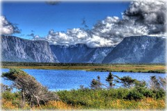 Western Brook Pond Fiord (RockyWaters2012) Tags: park trees summer sky canada water beauty clouds newfoundland pond scenic sunny unesco national western brook fiord tranquil gros morne