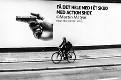 this direction (vol.2) (Martin.Matyas) Tags: blackandwhite bw bicycle canon blackwhite sw frau schwarzweiss dnemark kopenhagen 2013 canonefs1785isusm schwarzweissfoto eos7d 0810092013
