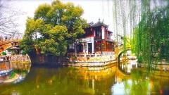 () Tags: shanghai willow lantern  teahouse  fengjing     thethreebridges oldwatertown ancientstonebridges