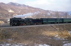 JS 5678  Guyuan  09.03.94 (w. + h. brutzer) Tags: china analog train nikon eisenbahn railway zug trains steam locomotive js cr dampflok lokomotive guyuan eisenbahnen dampfloks webru