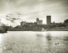 Along the Mon (Jaime Dillen-Seibel) Tags: city skyline canon river pittsburgh ducks coal barge