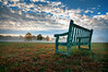 one day at a time (Sky Noir) Tags: life mist field fog sunrise bench chair waiting time wideangle future change past pushpull contemplation onedayatatime skynoir