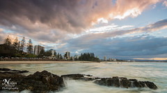 Snapper Rocks (Nolan White) Tags: ocean sunset beach clouds sunrise rocks waves nsw queensland newsouthwales coolangatta snapperrocks rainbowbay tweedheads