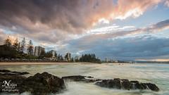 Snapper Rocks (Nolan White) Tags: ocean sunset beach clouds sunrise rocks waves nsw queensland newsouthwales coolangatta snapperrocks rainbowbay tweedheads