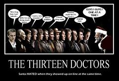 DOCTOR WHO : The Doctors and The Santa (DarkJediKnight) Tags: santa christmas poster who dr humor fake doctor parody spoof claus edmund tombaker motivational peterdavison colinbaker mattsmith sylvestermccoy patricktroughton davidtennant christophereccleston gwenn jonpertwee paulmcgann williamhartnell edmundgwenn petercapaldi