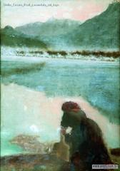Giulio Cesare Prati Lavandaia sul lago
