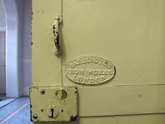 Paddington Iron Works London. (maggie jones.) Tags: old london plaque centre arts battersea wandsworth bac irondoor