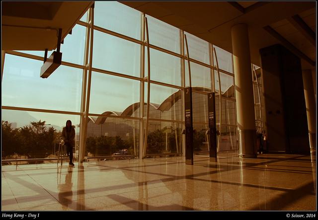 香港機場一景