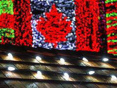 Canada Flag Christmas Lights (Claude Schneider) Tags: christmas canada reindeer lights bokeh brightlights stanleypark
