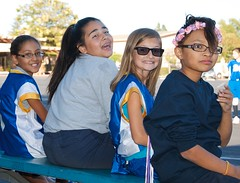 Sideline Crew (Kevin MG) Tags: ca girls usa silly cute sports smile children fun losangeles athletic funny young volleyball northridge preteen