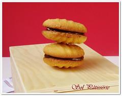 Bolachas crocantes com recheio de chocolate (2) (Sol Pâtisserie) Tags: de chocolate coco biscuits em chocolat bolachas flocon noix aveia flocos ralado davoine