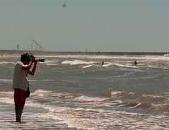Mar del Plata - 2014: Calm before the storm... (Maxi Nicoletti) Tags: sea beach pool canon outside outdoors eos waves sunny mardelplata mdq rebelxti eos400d canoneos400d