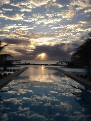 Sunrise (Kathy~) Tags: mexico royalsands cancun pool hp reflection sunrise flickriosapp:filter=nofilter uploaded:by=flickrmobile favescontestwinner instagram