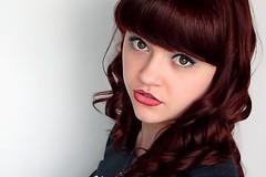 Self Portrait (LauraBendall) Tags: laura girl smile makeup curls lipstick caucasian
