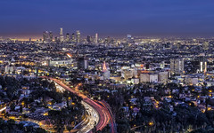 Los Angeles from Hollywood Bowl Overlook at Night (Sarmu) Tags: california ca city light sunset wallpaper urban usa building skyline architecture night america skyscraper lights la us losangeles twilight highresolution downtown cityscape view skyscrapers nightshot unitedstates dusk widescreen 1600 highdefinition resolution northamerica 1200 cbd hd bluehour wallpapers hollywoodbowl hdr 1920 vantage vantagepoint ws 1080 1050 720p 1080p urbanity 1680 720 digitalblending 2560 2013 sarmu hollywoodbowloverlook
