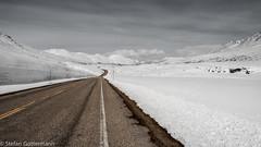 Klondike Highway in Winter (Yukonowsky) Tags: road winter white snow mountains clouds empty north rough whitehorse klondikehighway