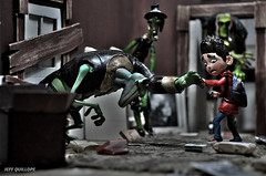 Aghh! Don't touch me! (Toy Photography Addict) Tags: toys laika diorama toyphotography huckleberrytoys toydiorama paranorman clarkent78 jeffquillope toyphotographyaddict paranormandiorama laikatoys