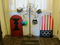 Hat/Coat/Helmet rack made from 10 speed drop bars..A 16 pointer! (whymcycles) Tags: usa house home lamp hat bike silhouette bar handle cycling us bars recycled board united rad helmet drop racing illusion entryway rack bici handlebar states olympic schwinn recycle bicyclette velo fahrrad entry hatrack whimsical coatrack skim skimboard whymcycle
