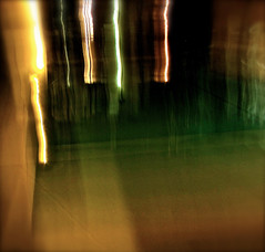 An Evening By The Pool (Koan Nowhere) Tags: longexposure abstract water night canon dark grainy lightstrails sx510