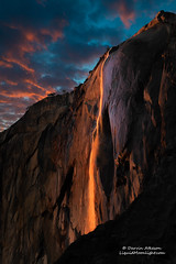 Horsetail Fall - Yosemite National Park (Darvin Atkeson) Tags: california sunset orange mountains fall rain landscape waterfall nationalpark glow nevada sierra yosemite drought horsetail firefall 2014 darvin galenrowell darv liquidmoonlightcom lynneal