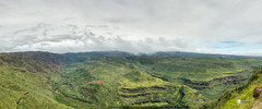 Waimea Canyon Pano (Dr_Drill) Tags: park cliff forest river hawaii nikon angle state pano wide scenic panoramic canyon cliffs kauai waimea pan lush nikkor hdr vr d800 1635 kauaii 1635vr