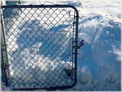 Snowgate (MissyPenny) Tags: blue winter white snow gate pennsylvania southeasternpa bristolpennsylvania missypenny