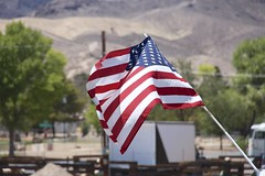 American Flag (matthewgamble2) Tags: life travel blue red summer usa white love america canon stars photography wind stripes flag nevada americanflag patriotic waving