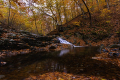 off the beaten path (dK.i photography) Tags: lowlight dusk autumn fall foliage creek waterfall longexposure vibrant colorful nature forest leaves patapscostatepark hike trailsawmilltrail natural hss sliderssunday