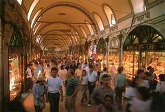 Interior view of Grand Bazaar, stanbul (SALTOnline) Tags: kapalar grandbazaar istanbul tonoz kemer turistik arc turistic saltaratrma saltresearch saltonline