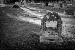 Mary Louise Lister (Cindy's Here) Tags: headstone gravestone light shadows mountainviewcemetery thunderbay ontario canada canon bw