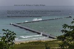 stormy seas and safe harbor - Frankfort Michigan (TAC.Photography) Tags: lakemichigan stormyseas frankfortmichigan tacphotography breakwall waves crashingwater splashingwaves