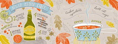Katy Bloss  Spiced Mulled Cider Recipe Illustration (katybloss) Tags: katybloss cider spice autumn fall illustration theydrawandcook painting foodart watercolour